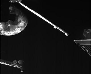 science Earth viewed from BepiColombo by one of the onboard inspection cameras