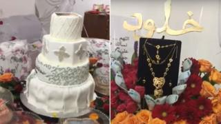 Cakes and a gold necklace