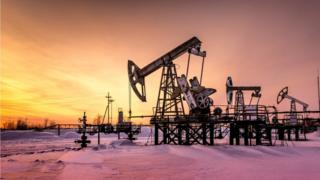 Grua de extração de petróleo