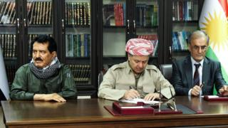 Kerkuk Barzani kurmaylarıyla