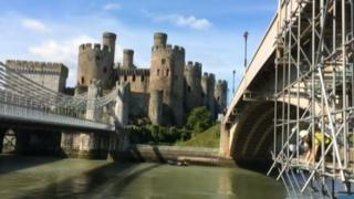 Conwy castle and its bridges