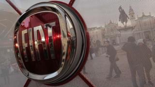 Fiat logo as seen in Piazza San Carlo in Turin