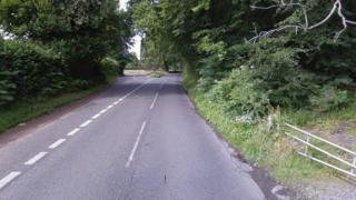 Leith Hill Road at the junction with Abinger Road