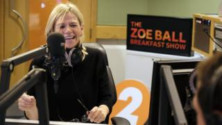 Zoe Ball loses 780,000 listeners from  Radio 2 breakfast show