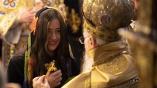 Евгения Порошенко и патриарх Варфоломей