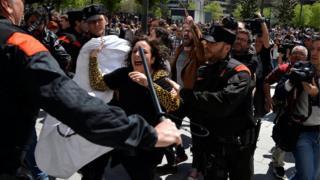 """Protestas en España por el caso de """"La manada"""""""