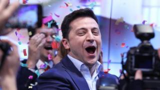 Volodimir Zelensky, ganador de las elecciones en Ucrania