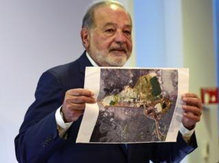 Carlos Slim entró en la polémica de la construcción del nuevo aeropuerto de Ciudad de México.