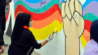 Bağdat'ta duvar resmi