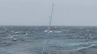 Yacht under tow