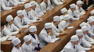 Студенти-медики на лекції