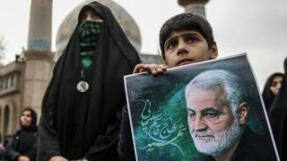 Iran, warga, jenderal Soleimani