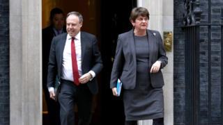 DUP leader Arlene Foster and her deputy Nigel Dodds