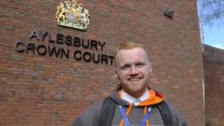 Ally Law outside Aylesbury Crown Court
