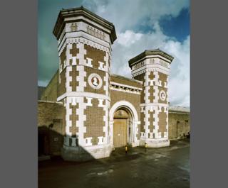 Exterior gatehouse, HMP Wormwood Scrubs, London