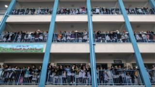 ఐక్యరాజ్య సమితి ఆధ్వర్యంలో నడిచే స్కూళ్లే గాజా విద్యార్థులకు ఆధారం
