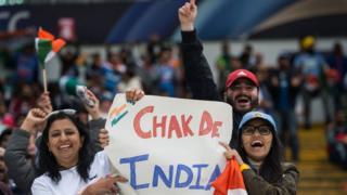 پاکستان اور انڈیا کے میچ کے دوران انڈین شائقین