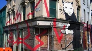 Banksy rat mural