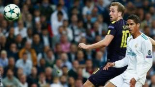Tottenham ilifunga bao lake la kwanza dhidi ya Real Madrid baada ya kushindwa kufanya hivyo katika mechi nne