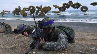مانور آمریکا و کره جنوبی
