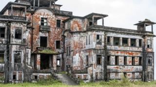 Burned remains of casino and hotel, Bokor Cambodia (Nov 2017)