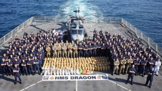 The crew of HMS Dragon