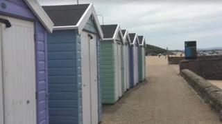 Beach huts in Weston-super-Mare