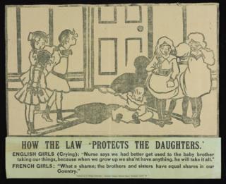 """""""Как закон защищает дочерей"""" - протест против того, что все наследство достается сыновьям"""