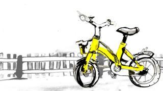 Ilustración de una bicicleta