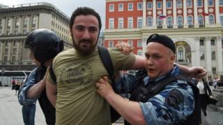 Dmitry Tsorionov, also known as Enteo, held by police in May 2015