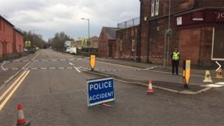 Police at Brooms Road in Dumfries