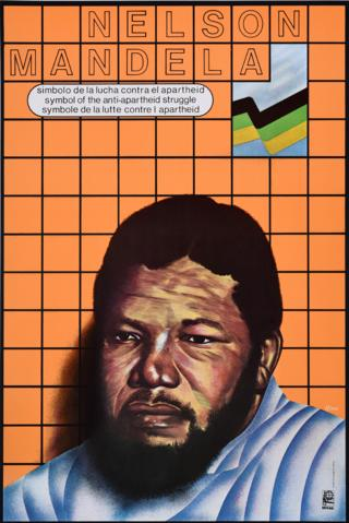 An Ospaaal poster entitled Nelson Mandela, 1989 with the words: