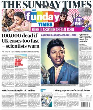 The Sunday Times front page 10 May