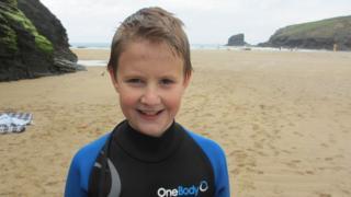 Ollie Simpkin after surfing