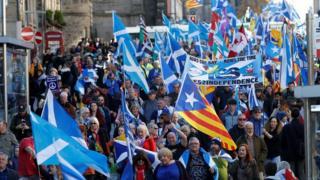 Marchers in Edinburgh
