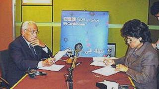 عفاف جلال ومحمد حسنين هيكل