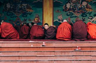 Buddhist novices in China