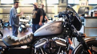A Harley-Davidson motorbike