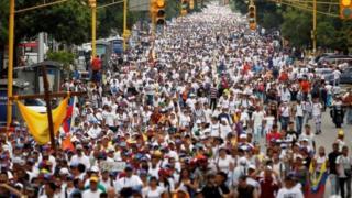 تظاهرة للمعارضة في فنزويلا