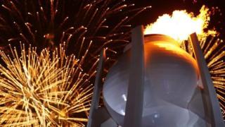 Cerimônia de acendimento da tocha olímpica na Coreia do Sul