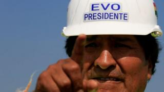 Bolivia's President Evo Morales visits the under-construction South Thermoelectric plant supported by SIEMENS in Yacuiba, Bolivia August 10, 2017.