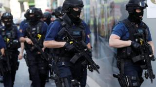 Armed police deployed following the London Bridge attack