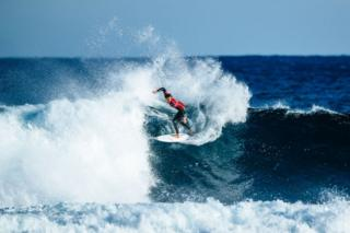 Jordy Smith of South Africa advances to the quarter finals of the 2019 Margaret River Pro after winning Heat 4 of Round 4 at Main Break on 2 June in Margaret River, Western Australia.