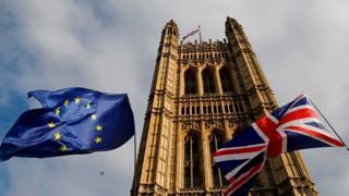 uk parliament uk eu flags