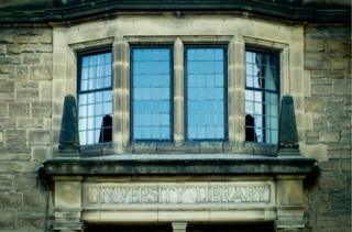 Durham University Library window