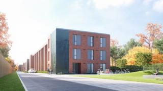 Artist's impression of how the flats will look