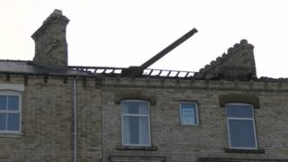 Roof of property on Marine Parade, Saltburn