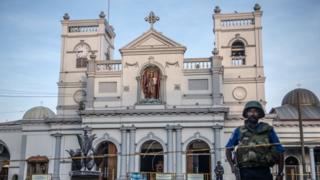Una de las iglesias atacadas