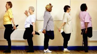 exercise class for older women