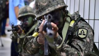 Ejercicios Ulchi Freedom Guardian (UFG) en Corea del Sur.